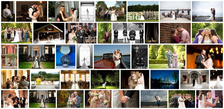 Photo collage of 82 wedding images