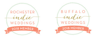 Rochester & Buffalo Indie Weddings badges